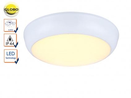 Weiße LED Außenleuchte JOHN Wand und Decke, Ø 32, 5cm, Deckenleuchte Wandlampe