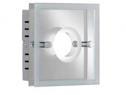 LED Wandleuchte mit Schalter, Glas teilsatiniert, Wofi-Leuchten