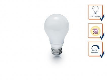 LED Leuchtmittel E27 Fassung, 7W, 560lm & 3000K in Warmweiß, Glas tropfenförmig - Vorschau 3