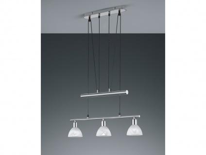 Höhenverstellbare LED Balken Pendelleuchten Nickel matt 3 flammig Esstischlampen