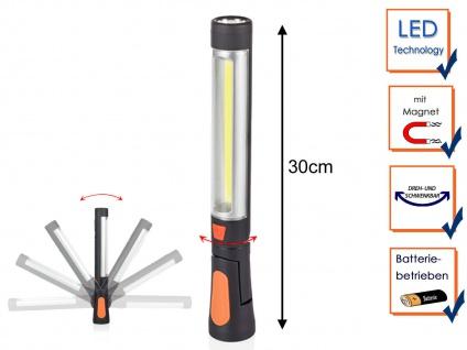 LED Arbeitsleuchte mit heller Taschenlampe, Magnet & Haken - Werkstattlampe Kfz