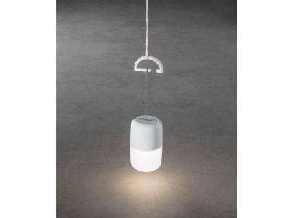 Solar LED Leuchte 3-Stufen Dimmer & USB-Kabel, IP44, Weiß, Gartenbeleuchtung - Vorschau 5
