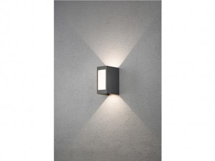 2er Set LED Außenwandleuchte Alu anthrazit IP54 Außenleuchten Wegeleuchten - Vorschau 5