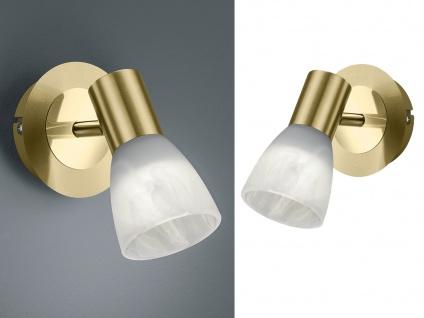 LED Wandstrahler mit Glas Lampenschirm dreh & schwenkbar 2 Deckenspots Leselampe
