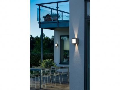 ALU LED Wandlampe in anthrazit für außen Lichtaustritt 0°-90° verstellbar IP54 - Vorschau 3