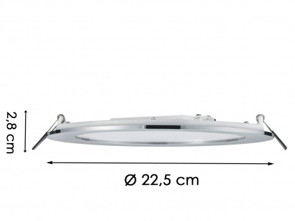 LED Einbaustrahler Decke 4er Set rund dimmbar Chrom glänzend 18W Deckenleuchten - Vorschau 5