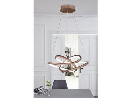 Dimmbare LED Pendelleuchte braun 51x53 cm, modernes Design Esstischlampe Küche