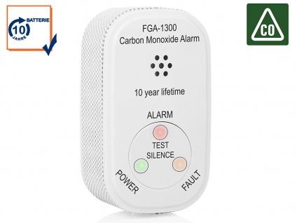 CO Kohlenmonoxidmelder mit 10 Jahres Langzeitbatterie - Gaswarngerät Gaswarner