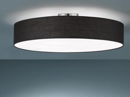 Runde Deckenlampe mit Stoffschirm in schwarz Ø 65cm E27 moderne Küchenleuchte