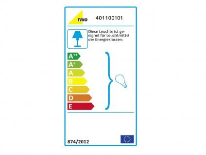 TRIO Design Stehleuchte Lampenschirm Stoff rund weiß H. 160cm E27 - Flurlampen - Vorschau 3