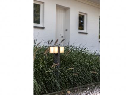 Hochwertige Outdoor Stehlampen SET 2 drehbare LED Wegleuchten ALU Anthrazit IP54 - Vorschau 5