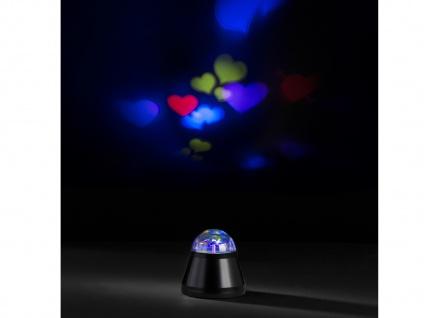 LED Tischleuchte / Nachtlicht Herzprojektor 4W LED Multicolor mit Motor Ø 10cm