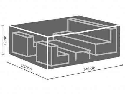 Schutzhüllen Set: Abdeckung 240x180cm für Garten Lounge + Hülle für 6-8 Kissen - Vorschau 3