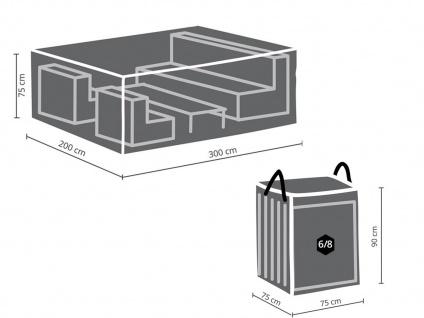 Schutzhüllen Set: Abdeckung 300x200cm für Garten Lounge + Hülle für 6-8 Polster