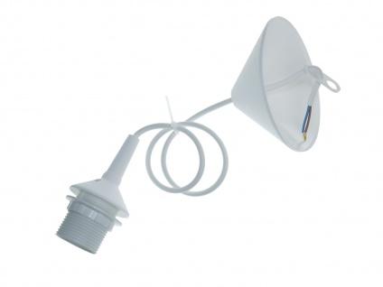 Niermann Lampenschirmaufhängung E27 max.60W 70cm weiß Schnurpendel - Vorschau 2