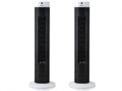 2er SET Säulenventilator mit Fernbedienung Oszillierend Höhe 77cm LED-Anzeige