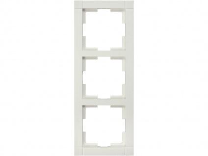 3-fach Rahmen / Schalterblende Modul in Cremeweiß eckig GAO