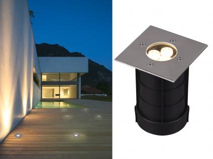 Eckiger Bodeneinbauspot Edelstahl 11cm IP65 Bodenstrahler für Einfahrt Terrasse