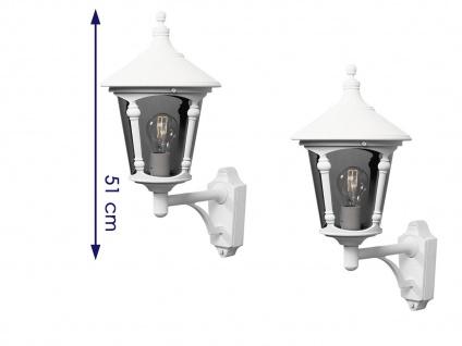 2er Set Konstsmide Außenwandleuchte VIRGO weiß, Laterne Leuchte Hauswand E27 - Vorschau 2