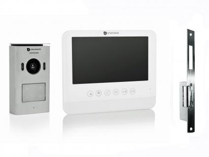 Einparteien Videosprechanlage LCD Bildschirm + Türöffner für weitöffnende Türen - Vorschau 2