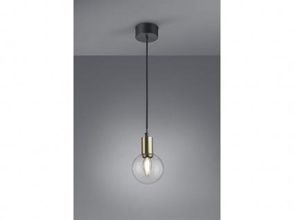Coole 1fl. LED Hängelampe Ø 12cm höhenverstellbar 150cm in schwarz matt/bronze
