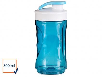 Ersatzbehälter / Trinkflasche für Smoothie Maker Mixer 300ml, blau, DOMO - Vorschau 1