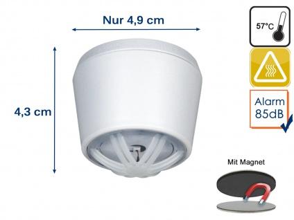 10 Jahres Mini Hitzemelder mit Magnethalter, ideal für Küche oder Badezimmer