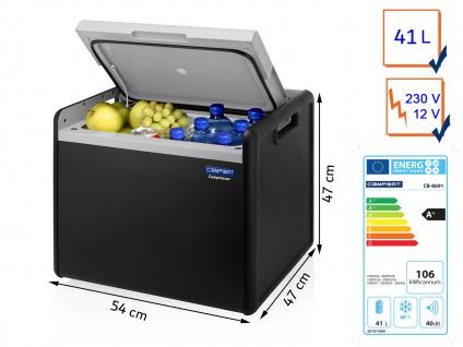 Große 41l Hybride Kühlbox fürs Auto, Camping, Caravan + Garten 12V/230V Betrieb