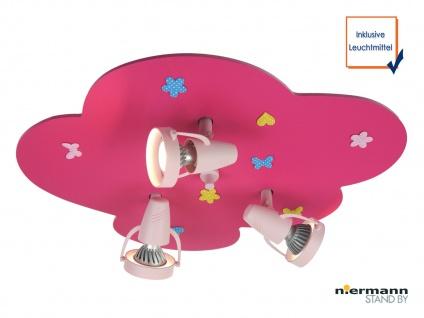 LED Deckenstrahler BLUMENWIESE 3 LED Spots schwenkbar LED Kinderzimmerleuchte