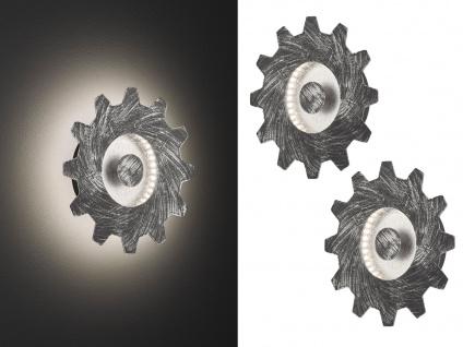 LED Wandlampe im Industrie Look Silber 2er Set - Vintage Lampe fürs Wohnzimmer