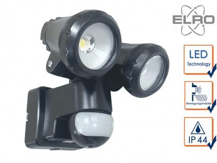 2-fl. LED Sicherheitsleuchte mit 12 Meter Bewegungsmelder 20W Wandleuchte außen