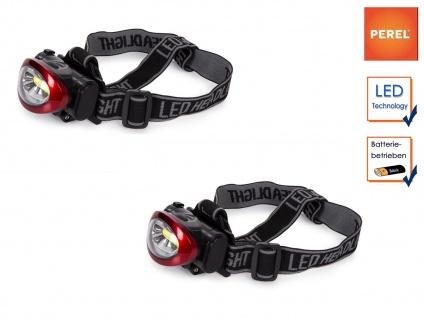 Paar-Set 3W LED Stirnlampen Kopflampen hell für Wandern, Trekking, Camping, Jagd