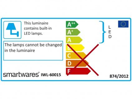 LED Spiegelleuchten 2er SET fürs Badezimmer mit Bewegungsmelder, Metall schwarz - Vorschau 3