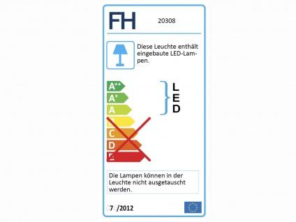 Dimmbare LED Sternenhimmel Deckenleuchte Ø40cm, Lampenschirm Stoff schwarz gold - Vorschau 3