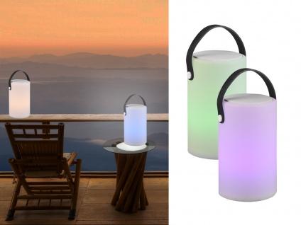 Dimmbare LED Tischleuchte für Outdoor & Bad Farbwechsel & Bluetooth Lautsprecher
