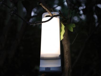 Universal LED Solarleuchte mit USB Ladefunktion dimmbar IP54 H. 28, 2cm Weiß - Vorschau 4