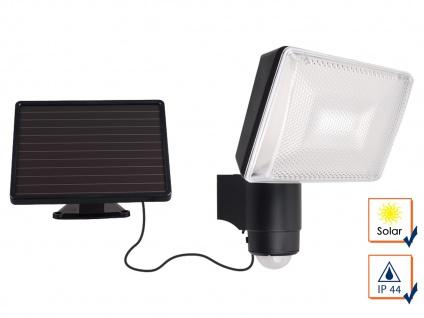 Solar LED Strahler mit Bewegungsmelder, SAMSUNG LEDs, 120°, IP44 Solar-Fluter