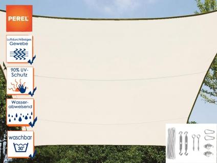 Sonnensegel Rechteckig 3x4m Creme mit Ösen für Balkon Terrasse Sonnenschutzsegel