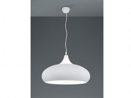 Vintage LED Pendelleuchte in weiß matt + rauchfarben, H150cm Ø 60cm für Loft