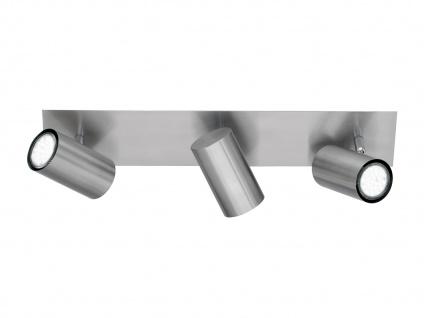 Dimmbarer LED Strahler für Innen - Deckenbalken mit 3 schwenkbaren Spots, Silber