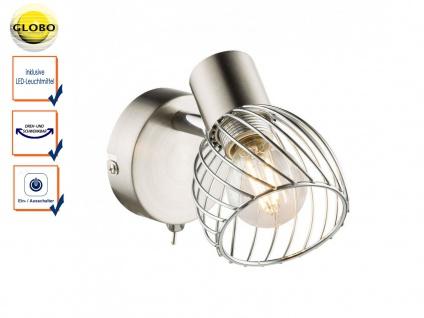 Wandleuchte schwenkbar mit Schalter + LED, Wandspot Leselampe Wohnzimmer Flur