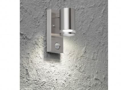 LED Außenwandlampe Bewegungsmelder Edelstahl IP44 Downlight Fassadenbeleuchtung