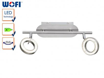 2-flammige LED Deckenleuchte, Spots schwenkbar, Strahler Deckenstrahler Balken
