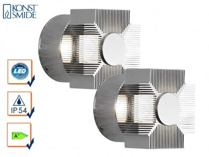 2er-Set Wandleuchten MONZA effektvolle Beleuchtung massives Aluminium