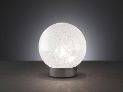 DESIGN Nachttischleuchte mit Kugel Lampenschirm Glas in Kristalloptik -Flurlampe