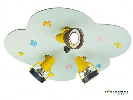 Kinderzimmerlampe hellblau Deckenleuchte 3-flammig Spots schwenkbar Lampe *NEU* - Vorschau 1