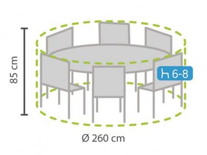 Schutzhülle Plane rund für Gartenmöbel, Ø 260cm, witterungsbeständige Abdeckung