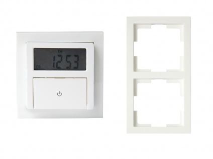 Wochenzeitschaltuhr Digital Unterputz Zeitschaltuhr + Doppel-Aufputzrahmen