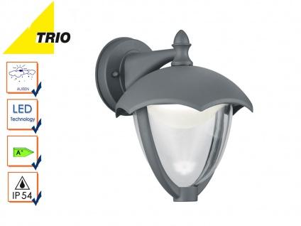 LED Außenwandleuchte GRACHT anthrazit, Laterne Außenbeleuchtung Terrasse IP54