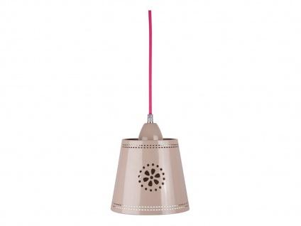 LIEF! Liebevoll designte Hängeleuchte im Landhaus Stil, Metall beige